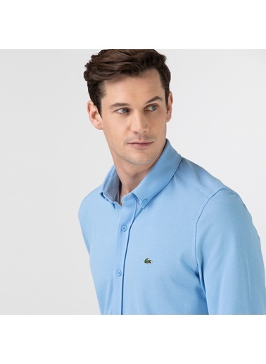Lacoste Erkek Slim Fit Gömlek CH2947.FSL Mavi